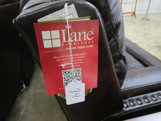 Lane Leather Couch Reclining Ends