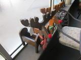 2 Wooden Reindeer