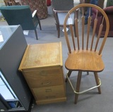 File Cabinet and Bar Stool