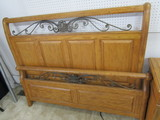 Lane Queen Bed Frame, Night Stand, Dresser and Mirror and Chest of Drawers