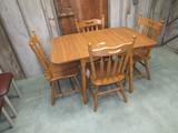 Drop Leaf Table and 4 Chairs