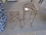 2 Wrought Iron Plant Stands