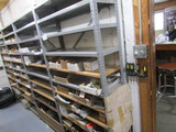 4 Sections of Steel Shelving and Contents