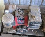 2 Gas Engines, Briggs 8 hp, Honda