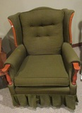 Green Chair and Matching Sofa