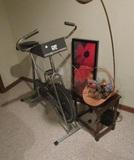 Exercise Bike, Lamp, Table