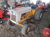 International 185 Lo-Boy with creeper gear and Woods L 59 belly mower