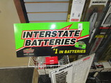 Interstate Battery double sided plastic sign