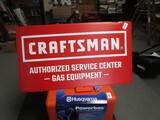 Craftsman tin sign