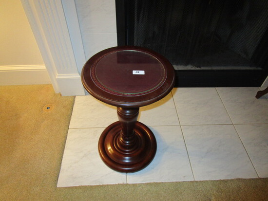 Plant Stand with Leather Top