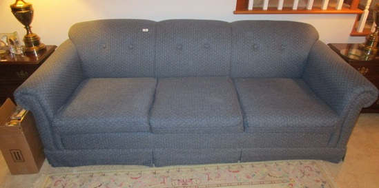 Blue Hide A Bed Couch