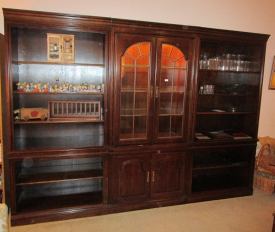 3 Piece Library Hutch Only, Items Displayed in Hutch are a Separate Lot.
