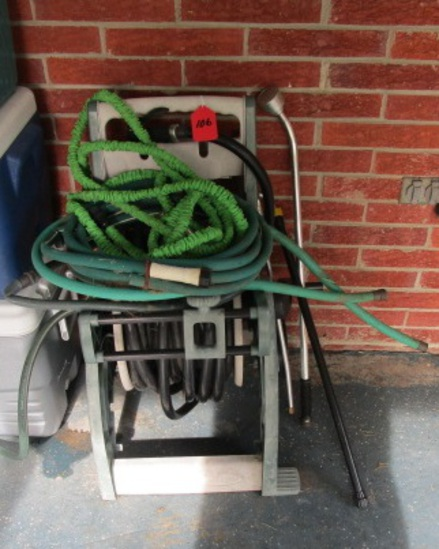GARDEN HOSE, REEL, AND ATTACHMENTS