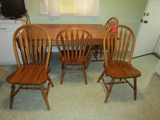 HARVEST STYLE TABLE WITH 4 CHAIRS