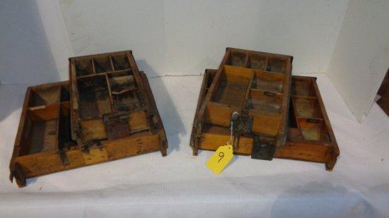 (4 ) Wooden Cash Register Drawers