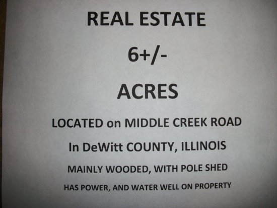 6  +\- Acres of Land