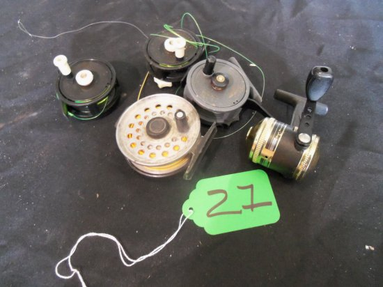 (5) FLY FISHING REELS