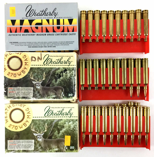 28 Rds. 270 Wby Magnum Ammo