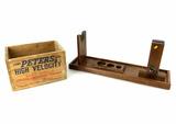 Peters Shot Shells Wood Crate & Wood Gun Vice
