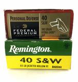 45 Rds. 40 S&w Ammunition