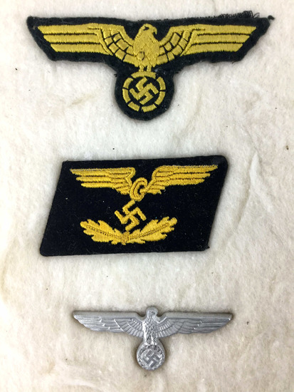 Ww2 German Patches & Hat Badge W/ Motor Corps | Firearms