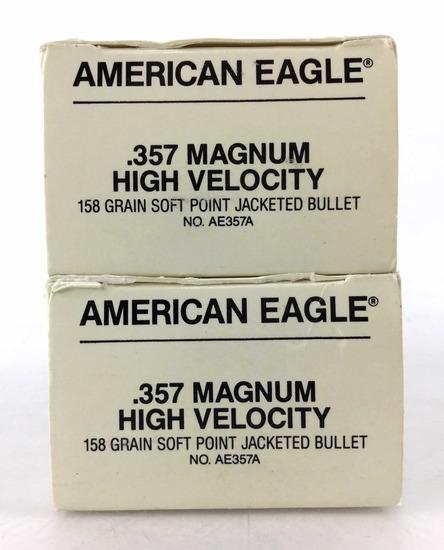 100 Rds. American Eagle 357 Magnum 158 Gr. Ammo