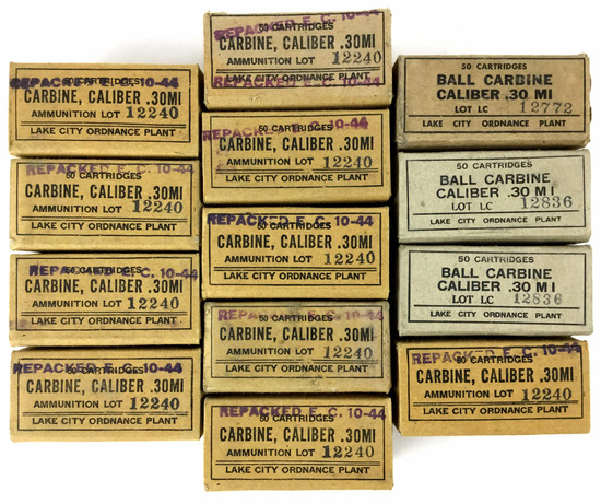 650 Rds. Vintage .30 Mi Carbine Ammo