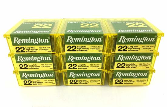 900 Rds. Remington High Velocity .22 Lr Ammo