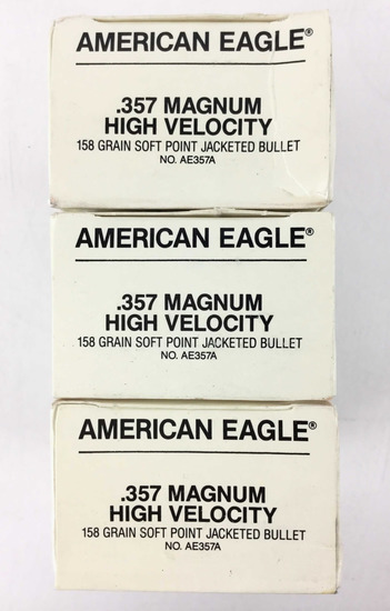 150 Rds. American Eagle 357 Mag 158 Gr. Ammo
