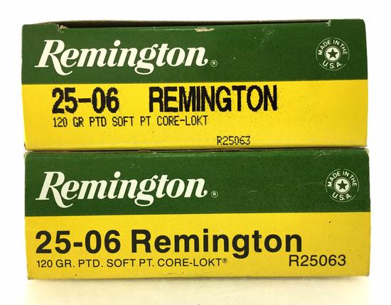 40 Rds. Remington 25-06 Rem 120 Gr. Ammo