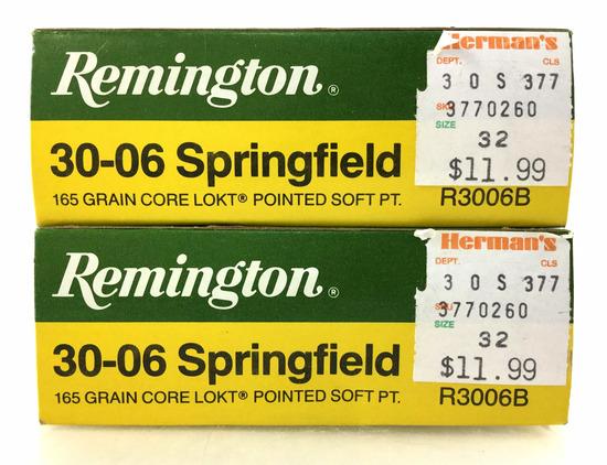 40 Rds. Remington 30-06 Sprg 165 Gr. Ammo