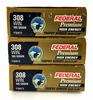 60 Rds. Federal Premium 308 Win 165 Gr. Ammo