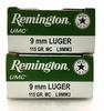 100 Rds. Remington 9mm Luger 115 Gr. Ammo