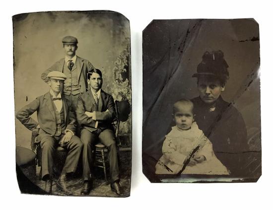 (2) Antique Tintype Portrait Photos