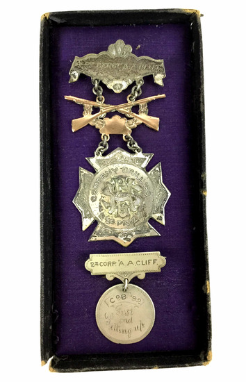 1892-93 Medals W/ 1st Serg. & 2nd Corp.