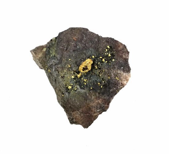Raw Gold In Rock Specimen