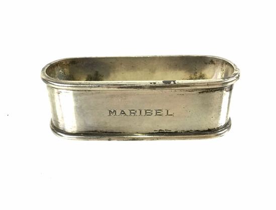 Antique B&m Sterling Monogrammed Napkin Ring