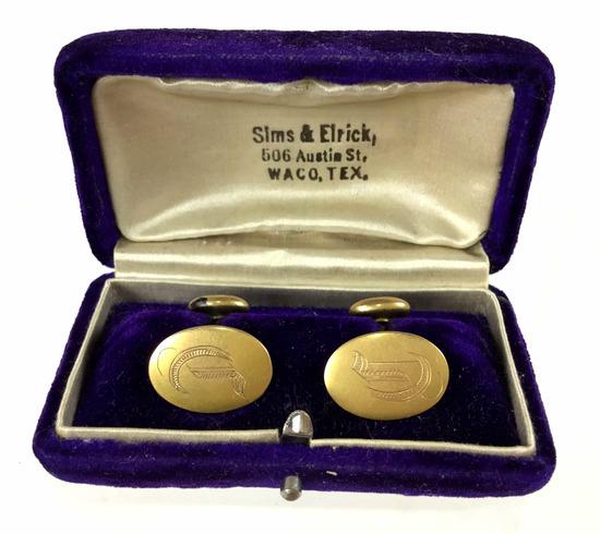 Antique 14k Gold Sims & Elrick Cufflinks