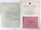 1922 President Harding White House Invitations