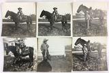 (6) Antique Photos Of Boy Dressed As Cowboy