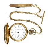 C.1887 Elgin 15j Pocket Watch 14k Gold Case