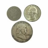 1952 Franklin Half Dollar, 1964 Washington