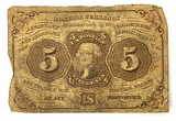 1862 U. S. Fractional Postage Currency 5 Cents