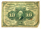 1862 U. S. Fractional Postage Currency 10 Cents