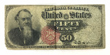 1866 U. S. Fractional Currency 50 Cents