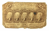 1862 U. S. Fractional Postage Currency 25 Cents