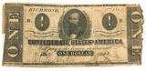 1862 Confederate States Of America Richmond $1