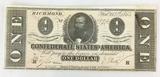 1864 Confederate States Of America Richmond $1