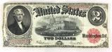 1917 Red Seal U. S. $2 Large Bill