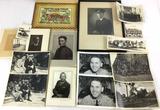 Vintage Black & White Photos W/ Military